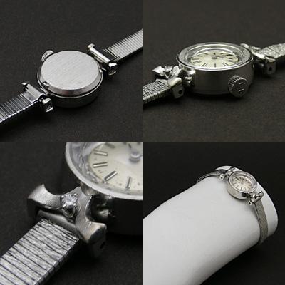 オメガ ダイヤ装飾 14KWG プリズム風防 レディースウオッチ 03