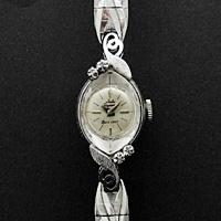 ユール・ヤーゲンセン ダイヤ装飾 14KWG レディースウオッチ