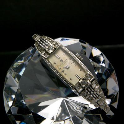 ウォルサム 14KWG ダイヤ装飾 アンティーク 手巻き レディースウオッチ 分解掃除済み 02