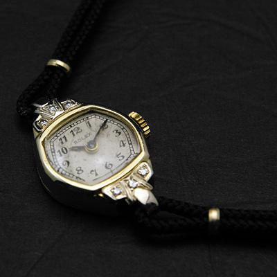 ロレックス 14K ダイヤ装飾 オリジナルダイアル レディースウオッチ 分解掃除済み 02
