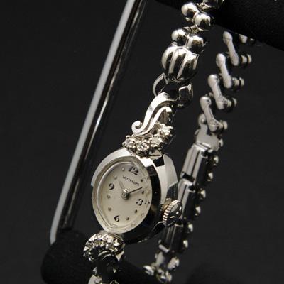 ウィットナー 14KWG ダイヤ装飾 レディースウオッチ 02