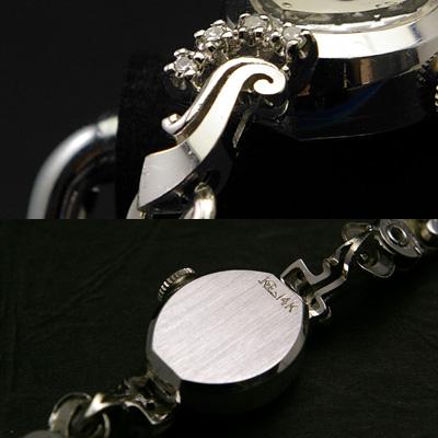ウィットナー 14KWG ダイヤ装飾 レディースウオッチ 03