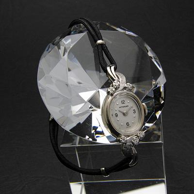 ウィットナー 14KWG ダイヤ装飾 レディースウオッチ 紐ベルト仕様 03