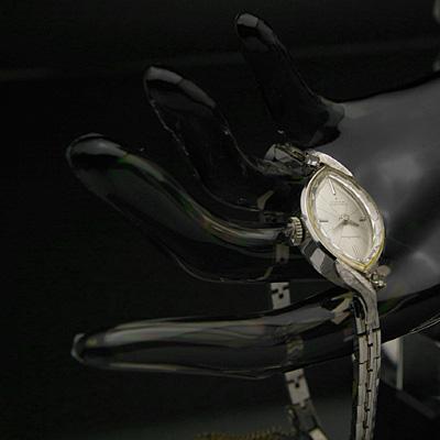 セイコー ソーラー レディースアンティークウオッチ 14KWGケース ダイヤ装飾 分解掃除済み 02
