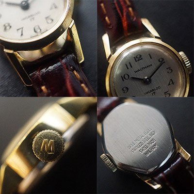 ウォルサム 手巻き腕時計 レディースアンティークウオッチ アラビア数字インデックス 05