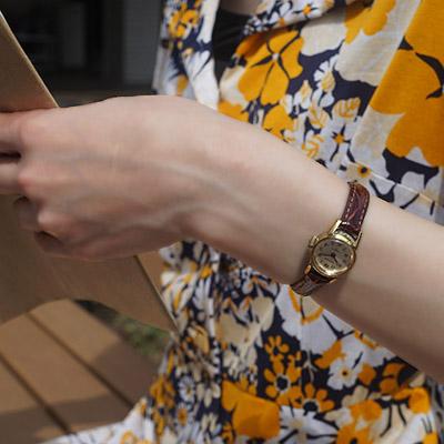 ウォルサム 手巻き腕時計 レディースアンティークウオッチ アラビア数字インデックス 06