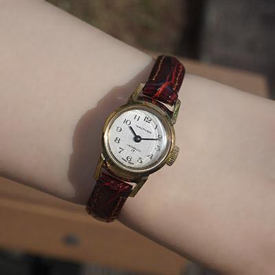 ウォルサム 手巻き腕時計 レディースアンティークウオッチ アラビア数字インデックス 07