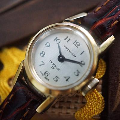ウォルサム 手巻き腕時計 レディースアンティークウオッチ アラビア数字インデックス 08