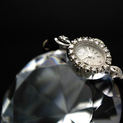 ハミルトン レディーハミルトン レディースアンティークウオッチ ダイヤ装飾 14KWG OH済み 02