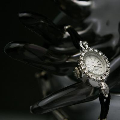 ハミルトン レディーハミルトン レディースアンティークウオッチ ダイヤ装飾 14KWG OH済み 03