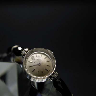 ロレックス プリズム風防 14Kホワイトゴールド ダイヤ装飾 レディースアンティークウオッチ 02