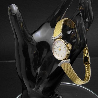 ハミルトン オーバルケース ダイヤ装飾ラグ デッドストック レディースアンティークウオッチ 02