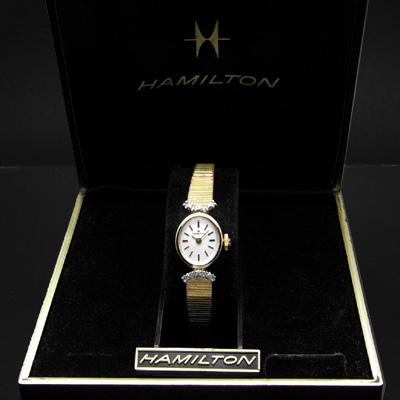 ハミルトン オーバルケース ダイヤ装飾ラグ デッドストック レディースアンティークウオッチ 03