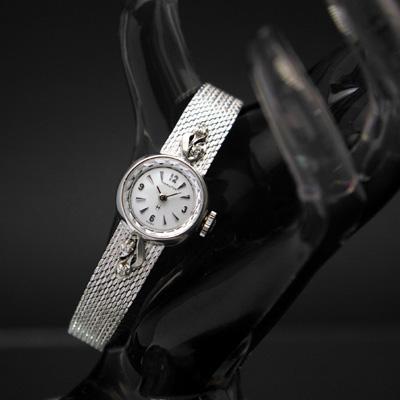 ハミルトン ラウンドケース ブレス一体型 カメレオン風 レディースアンティークウオッチ
