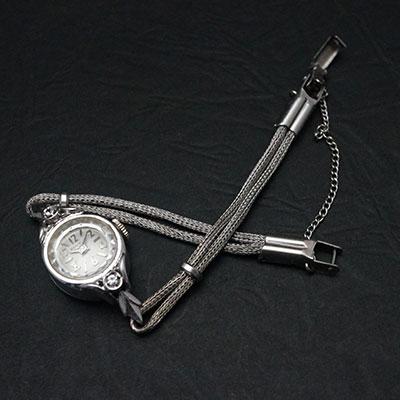 ベンラス 2ポイントダイヤ装飾 偶数字アラビックインデックス レディースアンティークウオッチ 03