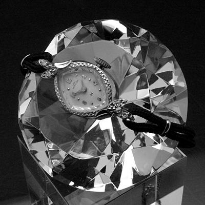 ハミルトン レディーハミルトン 菱形フェイス 14KWGケース ダイヤ装飾 レディースアンティークウオッチ 03
