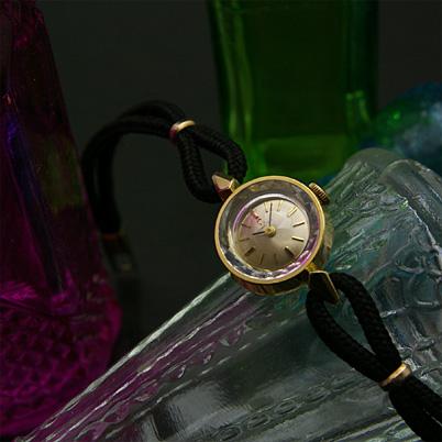 オメガ プリズム風防 ゴールドダイアル&ケース レディースアンティークウオッチ 分解掃除済み 02