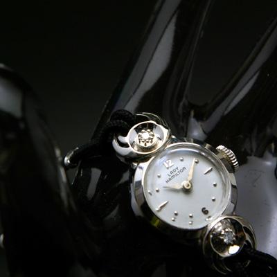 ハミルトン レディーハミルトン ラウンドシェイプ 14KWGケース ダイヤ装飾 レディースアンティークウオッチ 02