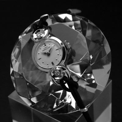 ハミルトン レディーハミルトン ラウンドシェイプ 14KWGケース ダイヤ装飾 レディースアンティークウオッチ 03
