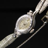 ブローバ ダイヤ装飾 10RPG アーモンドフェイス アンティーク 手巻き レディースウオッチ