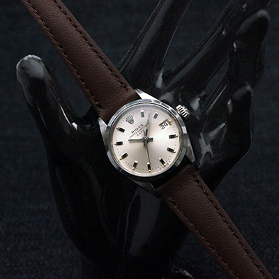 ロレックス オイスターパーペチュアル デイト シルバーダイアル レディースアンティークウオッチ Ref.6516