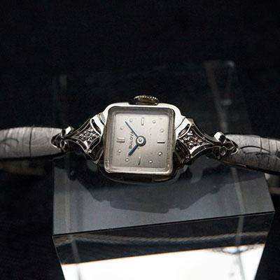 ブローバ ダイヤ装飾 14KWGケース 手巻き レディースウオッチ アンティーク 02