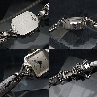 ブローバ ダイヤ装飾 14KWGケース 手巻き レディースウオッチ アンティーク 03