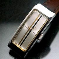 セイコー 手巻き レクタングルケース シルバーダイアル 良品 アンティークウオッチ