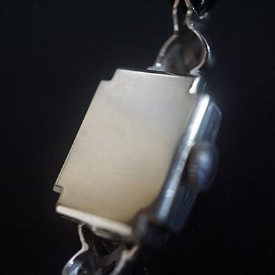 ハミルトン ダイヤ装飾 10KWGケース スクエアシェイプ アンティーク レディースウオッチ 02