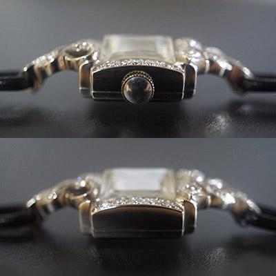 ハミルトン ダイヤ装飾 10KWGケース スクエアシェイプ アンティーク レディースウオッチ 03
